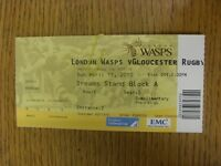 11/04/2010 Ticket: Rugby Union, London Wasps v Gloucester. Thanks for viewing th