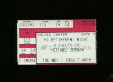 ORIGINAL NOVEMBER 1st 1994 MICHAEL JORDAN RETIREMENT NIGHT TICKET #2