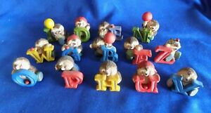 Vintage Gordon Fraser Country Companions Alphabet / Letters  Figurines x 14