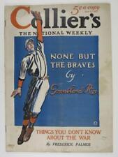 1915 Colliers Magazine w/ Baseball Cover - Boston Braves