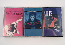 1980s Cassette Tape Lot of 3 ABC Lexicon of Love ZappaCosta Simply Red New Flame