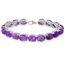Less than 18cm Amethyst Sterling Silver Fine Bracelets