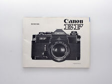 [MINT] Genuine Instructions Manual Booklet english edition Canon EF film camera
