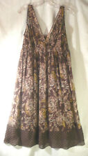 BCBGMAXAZIA r   Women's 100% Silk Dress Size S-Med Empire floral sleeveless