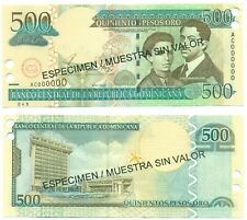DOMINICAN REPUBLIC NOTE 500 PESOS ORO 2002 SPECIMEN P 172s UNC