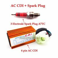 Racing AC CDI A7TC Spark Plug For GY6 50cc-150cc ATV Quad Go Kart Moped Scooter