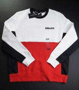 NIKE Men's Nike Air Colorblock Fleece Pullover Sweatshirt sz L CU4136-100 NWT