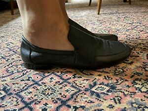 COS Size 5 Ladies Slip On Soft Black Leather Loafers
