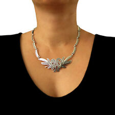 Melesio Rodriguez 925 Sterling Taxco Silver Designer Floral Necklace