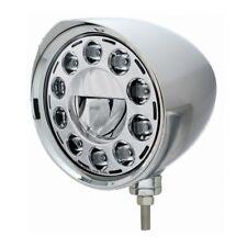 CHOPPER LED Crystal Headlight, Chrome Aluminum - Razor Visor Housing