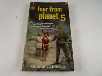 "Vintage ""Four From Planet 5"" by Murray Leinster 1964 2nd Printing Fawcett"
