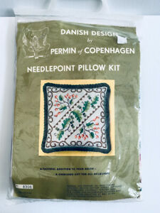 Permin of Copenhagen Danish Needlepoint Pillow Embroidery Kit 34 x 34cm NEW
