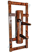 Wing Chun Wooden Dummy with bow walnut color
