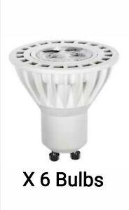 6 x LAP Led GU10 5w Cool White Dimmable  86% Energy Saving Light Bulb 35 watt