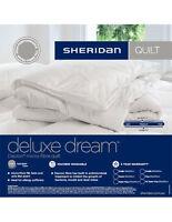 Sheridan Deluxe Dream Dacron Microfibre Quilt Doona Duvet Double Bed Size New