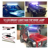 12 LED Light Bar Roof Lamp for 1/10 Axial Wraith 90018 90020 90045 RC Crawle Car