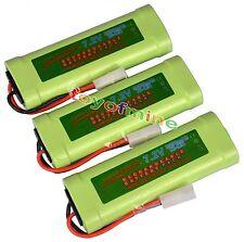 3 pcs 7.2V 3800mAh Ni-Mh rechargeable battery pack RC w/ Tamiya Plug USA