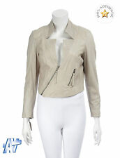 MUUBAA Ladies Tokyo Lamb Leather Cropped Biker Jacket BNWT