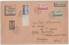 1937 France Registered Oversize Cover to Army Soldier  Philatelic Exposition