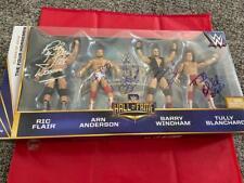 FOUR HORSEMEN SIGNED WWE ELITE HALL OF FAME FIGURES WRESTLING FLAIR + 4 SIGS