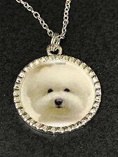 """Dog Bichon Frise Charm Tibetan Silver 18"""" Necklace BF1"""