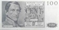 Billet de Banque Jaco pour Jeu de Société de 100 Francs - Editions KIMEX Brussel