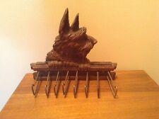 Vintage Syroco Syracuse terrier dog tie scarf Leash Collar Rack Holder