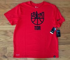 NEW Mens NIKE TORONTO RAPTORS Performance Shirt City Scape 871073 XXL RED BLACK