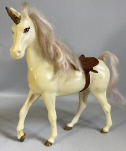 "Vintage 10"" Unicorn Horse With Saddle Cream Barbie Doll Scale"