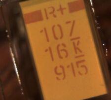 20 x Kemet T495X107K016AS 100UF 16V tantalum capacitor