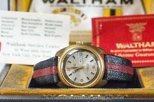 Waltham Men's Oltrashock Automatic Watch, 17 Jewels Swiss Made Day Date RARE!