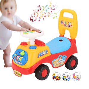 Kids Ride On Toy Car Girls Boys Toddlers Push Along Indoor Outdoor Vehicle Toy