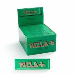 10 BOOKLETS RIZLA KING SIZE GREEN ROLLING PAPERS