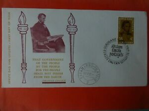 First Day of Issue  Abraham Lincoln Surinam 25c