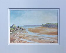 More details for the gower. three cliffs bay. original watercolour