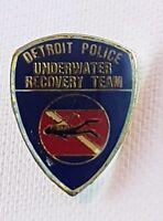 Detroit Police Underwater Recovery Team Enamel Lapel Pin Badge Brooch America