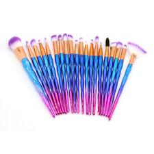 20Pcs Unicorn Diamond Make up Brushes Set Eyeshadow Powder Foundation Contour