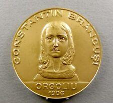 Medal. Constantin Brancusi Orgoliu 1906. Muzeul de Arta. Craiova 1987.