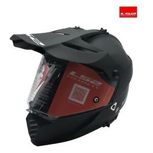Motorcycle Helmet Off Road Enduro Integral LS2 Pioneer Evo MX436 Solid Black Mat