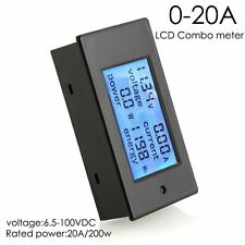 DC 20A 100V LCD Digital Volt Voltage Watt Current Power Meter Ammeter Voltmeter