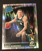 Donte DiVincenzo 2018-19 Donruss Optic Shock Prizm Rated Rookie #164 RC Bucks