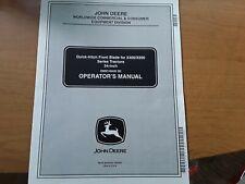 "John Deere 54"" Quick-Hitch Blade Manual For Jd X400 & X 500 Tractors"