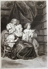 Gravure Etching d'après Achille DEVERIA par Jean Mathias FONTAINE avant lettre