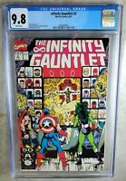 Infinity Gauntlet #2 Marvel 1991 CGC 9.8 NM/MT White Pages Comic M0118