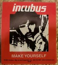 """Incubus """"Make Yourself"""" Sticker/Decal Rock N Roll"""