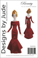 """Beauty Gown Doll Clothes Sewing Pattern for 22"""" American Model Tonner"""