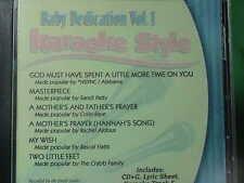 Baby Dedication ~ Christian~Daywind~Karaoke Style ~~ A Mother's Prayer ~~ CD+G
