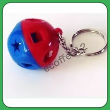 Tupperware Miniature Shape O Toy Keychain Blue Red New