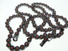 Cadenas, collares y colgantes color principal negro circonita para hombre