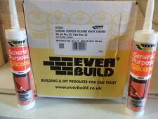 1 Box (25no) Everbuild General Purpose Silicone, White, Size C3.